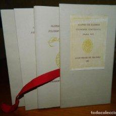 Libros antiguos: FILOSOFÍA CORTESANA ALONSO DE BARROS ESTUDIO,FACSÍMIL Y JUEGO. Lote 93724980