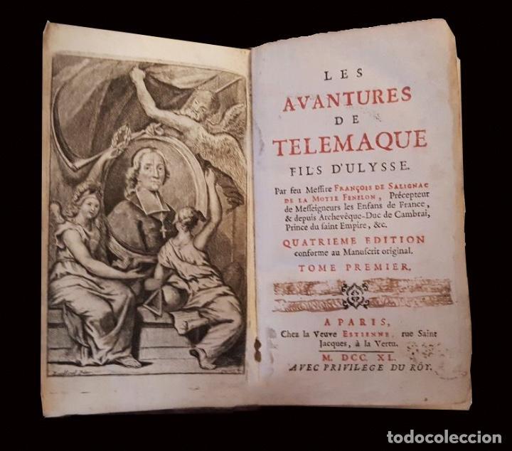 LES AVENTURES DE TELEMAQUE, 1740, FRANCOIS DE SALIGNAC, TOMO I, PARIS (Libros Antiguos, Raros y Curiosos - Pensamiento - Filosofía)