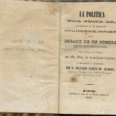 Libros antiguos: LA POLÍTICA TAL COMO ES, POR MR. DROZ. AÑO 1844. (9.1). Lote 93851795