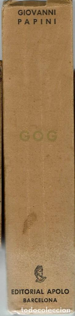 Libros antiguos: GOG, POR GIOVANNI PAPINI. AÑO 1934. (8.1) - Foto 3 - 94389222
