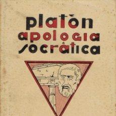 Libros antiguos: PLATÓN APOLOGÍA SOCRÁTICA. AÑO ¿? (9.1). Lote 94449618