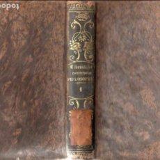 Libros antiguos: MATTHAEO LIBERATORE : INSTITUTIONES PHILOSOPHICAE I - LOGICA ET METAPHYSYCA (SUBIRANA, 1854) LATÍN. Lote 95622291