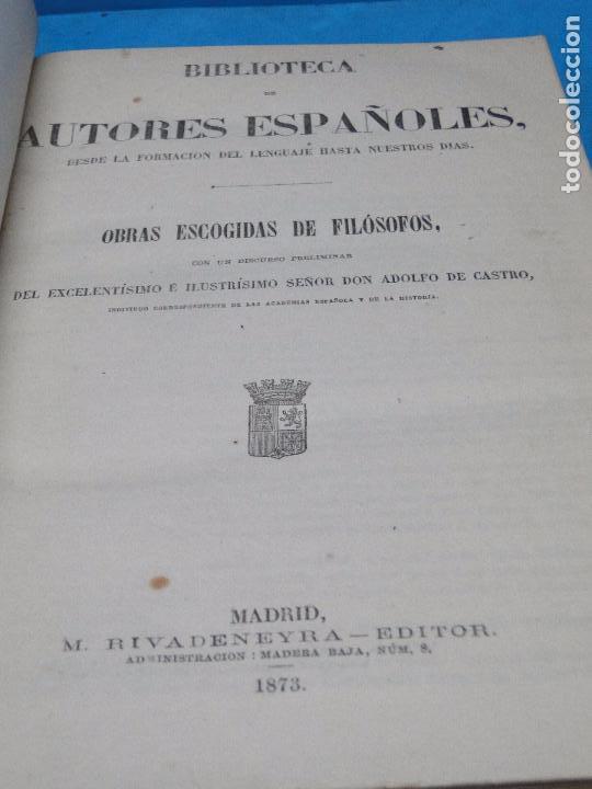 Libros antiguos: OBRAS ESCOGIDAS DE FILOSOFOS. - Foto 2 - 97622647