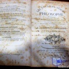 Libros antiguos: LES DERNIERS JOURS D'UN PHILOSOPHE . CAMILLE FLAMMARION 4 ED. ED DIDIER PARIS 1872 . FRANCES. Lote 97737919