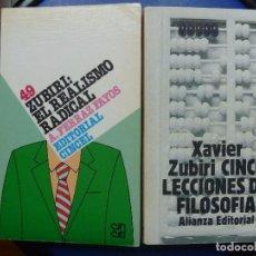 Libros antiguos: ZUBIRI REALISMO RADICAL Y CINCO LECCIONES DE FILOSOFÍA . Lote 99286995