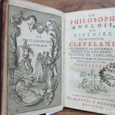 Libros antiguos: LE PHILOSOPHE ANGLOIS, OU HISTOIRE DE MONSIEUR CLEVELAND..[PREVOST, ABAD.] 1744. 7 VOLS. . Lote 99970195