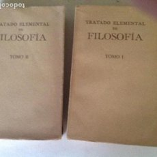 Libros antiguos: TRATADO ELEMENTAL DE FILOSOFIA. UNIVERSIDAD LOVAINA. 2 VOLUMENES.. Lote 100940003