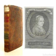 Libros antiguos: 1793 - IMPORTANTE - ROUSSEAU: EL CONTRATO SOCIAL - FILOSOFÍA POLÍTICA - SIGLO DE LAS LUCES - RETRATO. Lote 101188259