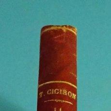 Libros antiguos: OBRAS COMPLETAS DE MARCO JULIO CICERÓN. TOMO VI. TRATADO DE LA REPÚBLICA Y TRATADO DE LAS LEYES. Lote 103301763