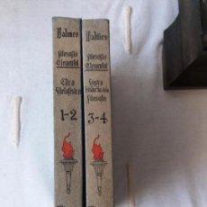 Libros antiguos: LIBRO. FILOSOFÍA ELEMENTAL. DOS LIBROS, 1º ETICA METAFÍSICA, 2º LÓGICA HISTORIA DE LA FILOSOFÍA.1935. Lote 103453907