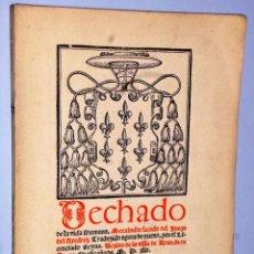 Libros antiguos: DECHADO DE LA VIDA HUMANA. MORALMENTE SACADO DEL JUEGO DEL AXEDREZ. Lote 103844647