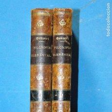 Libros antiguos: FILOSOFÍA ELEMENTAL ( 2 VOLS. OBRA COMPLETA). FR. ZEFERINO GONZALEZ. Lote 104716339