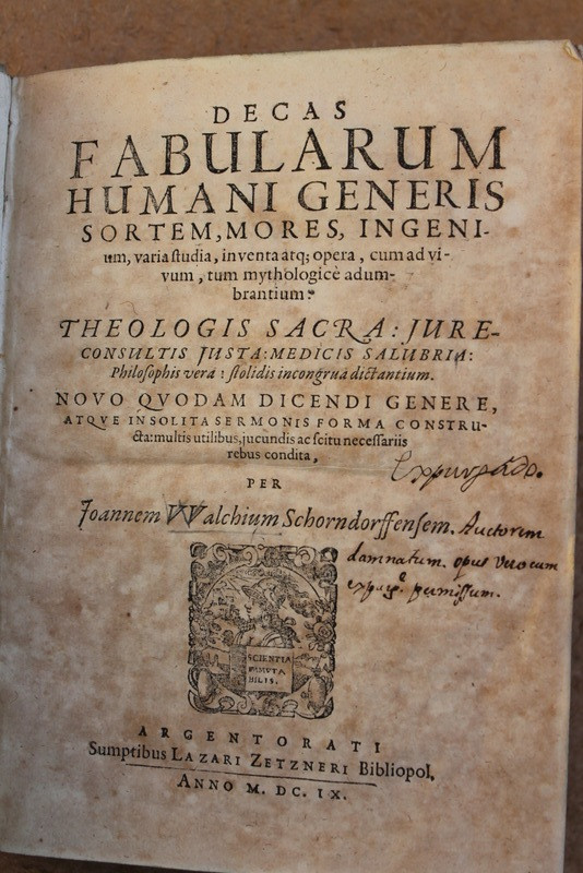Libros antiguos: Decas fabularum humani generis sortem, mores ingenium, varia studia, inventa atque opera,... - Foto 6 - 25944116