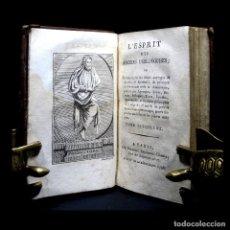 Libros antiguos: AÑO 1795 HISTORIA DE LOS FILÓSOFOS DE LA ANTIGÜEDAD GRABADO FRONTISPICIO ANTIGUA GRECIA ROMA. Lote 109445707