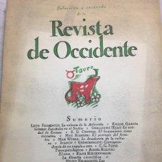 Libros antiguos: SELECCIÓN REVISTA DE OCCIDENTE ARTÍCULOS FILOSÓFICOS 1950 VARIOS AUTORES INTONSO. Lote 109506023