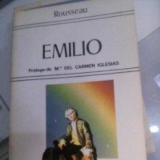 Libros antiguos: EMILIO POR ROUSSEAU, BIBLIOTECA EDAF.. Lote 109781687
