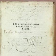 Libros antiguos: DE PHILOSOPHIAE CONSOLATIONE. - BOETHIUS, ANICIUS MANLIUS SEVERINUS. FLORENCIA, 1507.. Lote 109022763