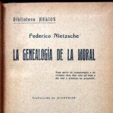 Libros antiguos: LA GENEALOGIA DE LA MORAL - NIETZSCHE - EDITORIAL B. BAUZÁ - BIBLIOTECA HELIOS. Lote 112152595
