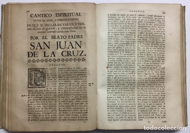 Libros antiguos: OBRAS ESPIRITUALES, QUE ENCAMINAN A UNA ALMA, a la mas perfecta union con Dios, en transformacion de - Foto 9 - 109021834