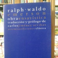 Libros antiguos: OBRA ENSAYISTICA RALPH WALDO EMERSON, CARLOS JIMÉNEZ . Lote 114440711