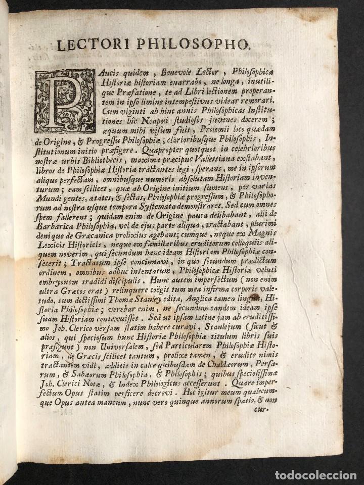 Libros antiguos: 1728 Historiae Philosophiae - historia de la filosofia - pergamino - Foto 8 - 115052011