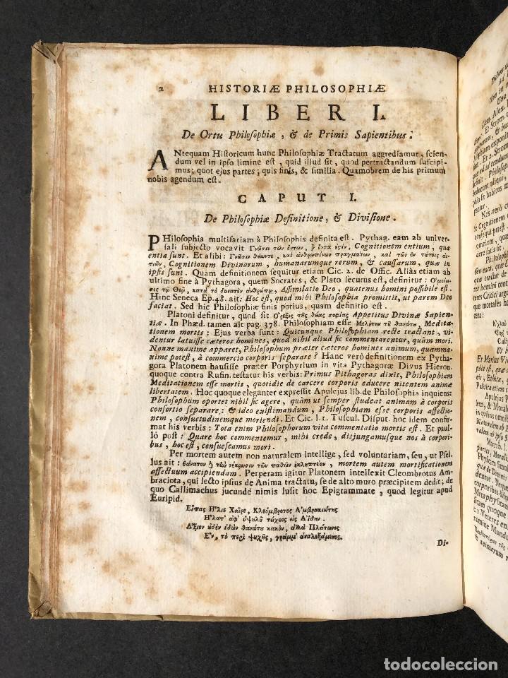 Libros antiguos: 1728 Historiae Philosophiae - historia de la filosofia - pergamino - Foto 11 - 115052011