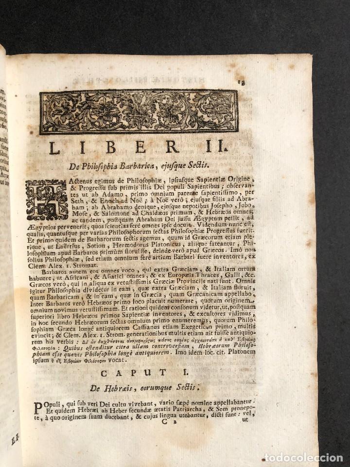 Libros antiguos: 1728 Historiae Philosophiae - historia de la filosofia - pergamino - Foto 12 - 115052011