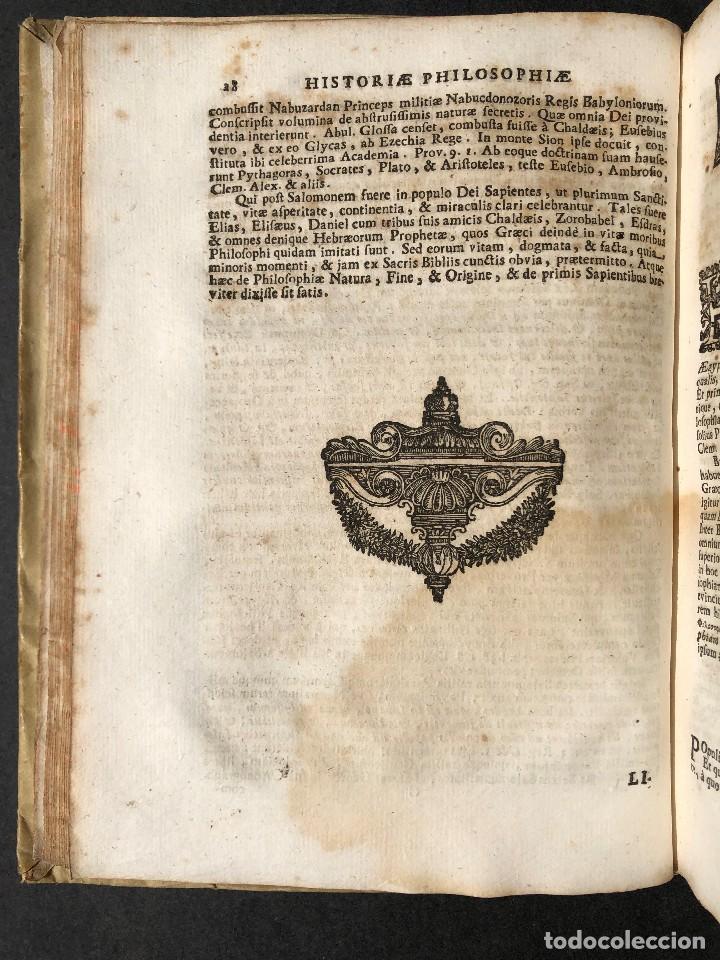 Libros antiguos: 1728 Historiae Philosophiae - historia de la filosofia - pergamino - Foto 13 - 115052011