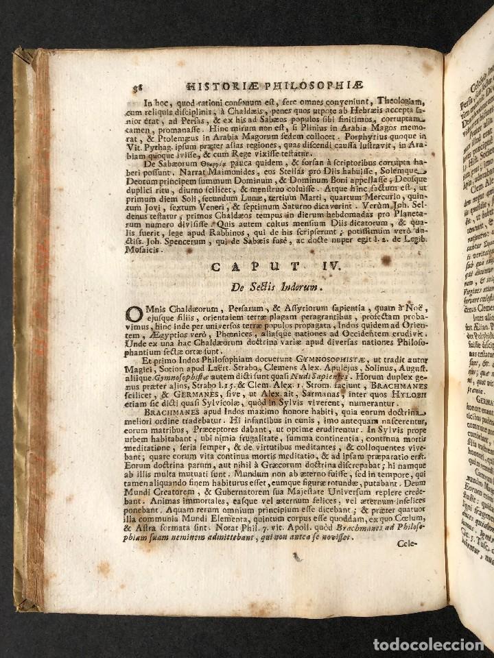 Libros antiguos: 1728 Historiae Philosophiae - historia de la filosofia - pergamino - Foto 14 - 115052011