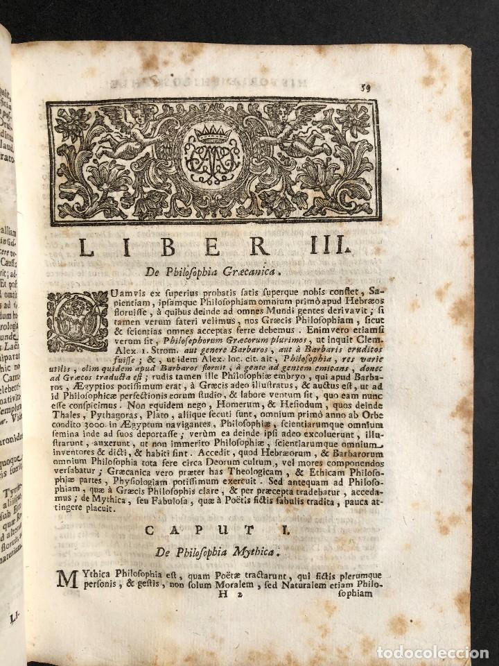 Libros antiguos: 1728 Historiae Philosophiae - historia de la filosofia - pergamino - Foto 16 - 115052011