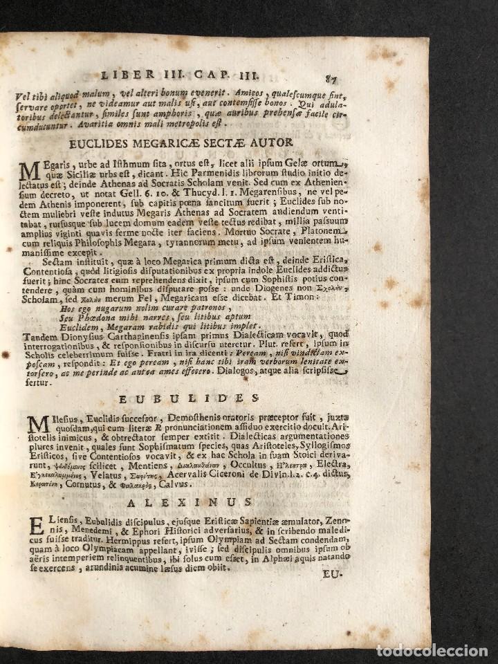Libros antiguos: 1728 Historiae Philosophiae - historia de la filosofia - pergamino - Foto 20 - 115052011