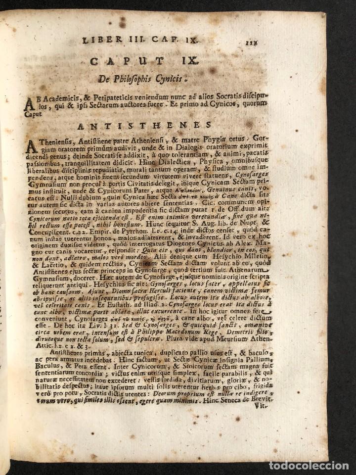Libros antiguos: 1728 Historiae Philosophiae - historia de la filosofia - pergamino - Foto 21 - 115052011