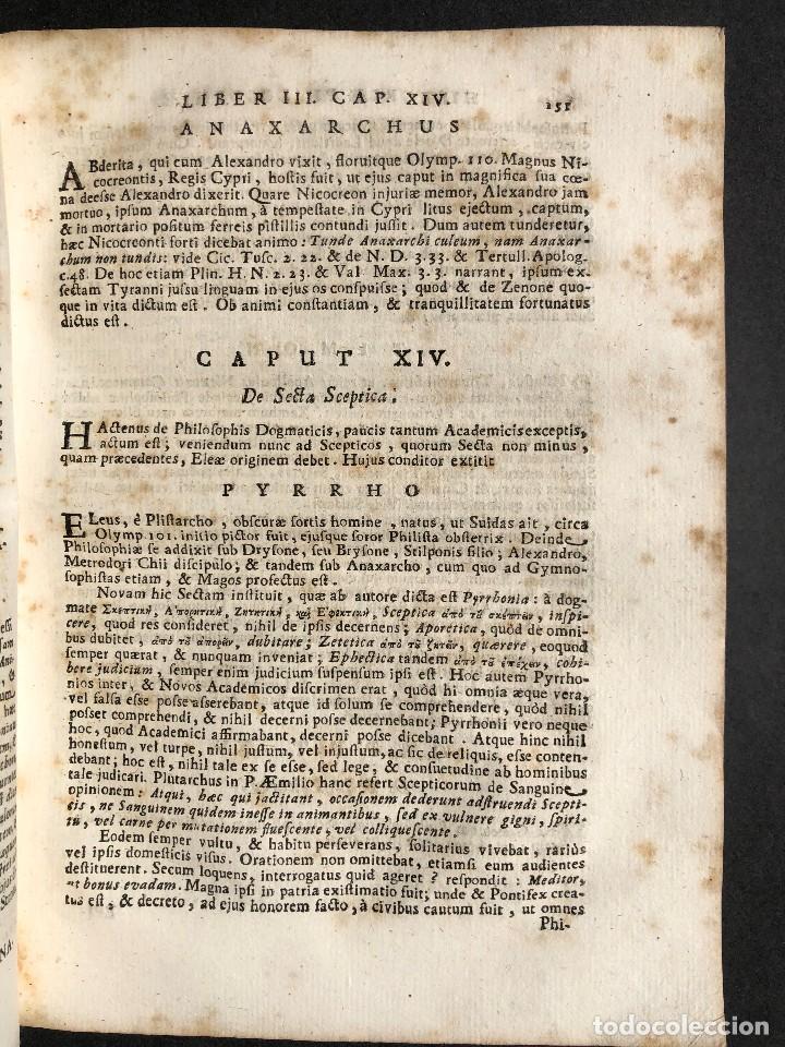 Libros antiguos: 1728 Historiae Philosophiae - historia de la filosofia - pergamino - Foto 22 - 115052011