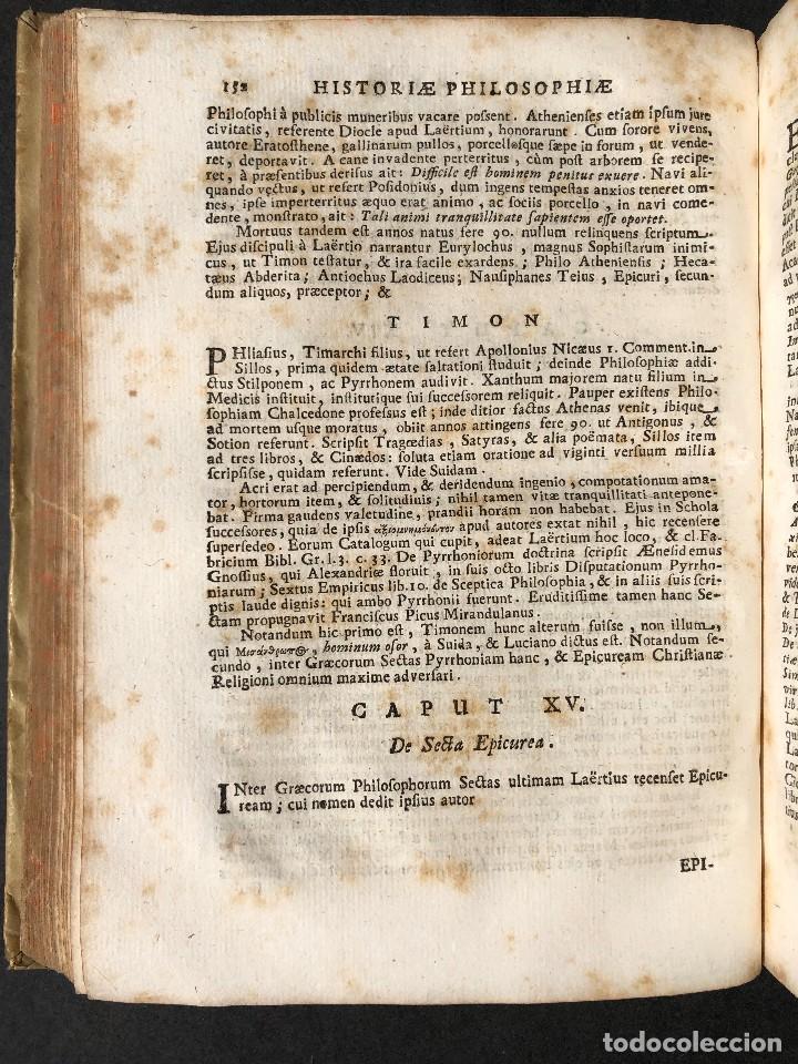Libros antiguos: 1728 Historiae Philosophiae - historia de la filosofia - pergamino - Foto 23 - 115052011