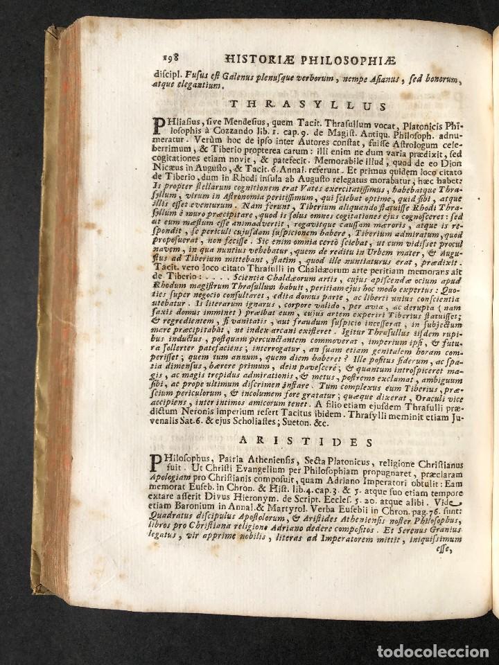 Libros antiguos: 1728 Historiae Philosophiae - historia de la filosofia - pergamino - Foto 27 - 115052011