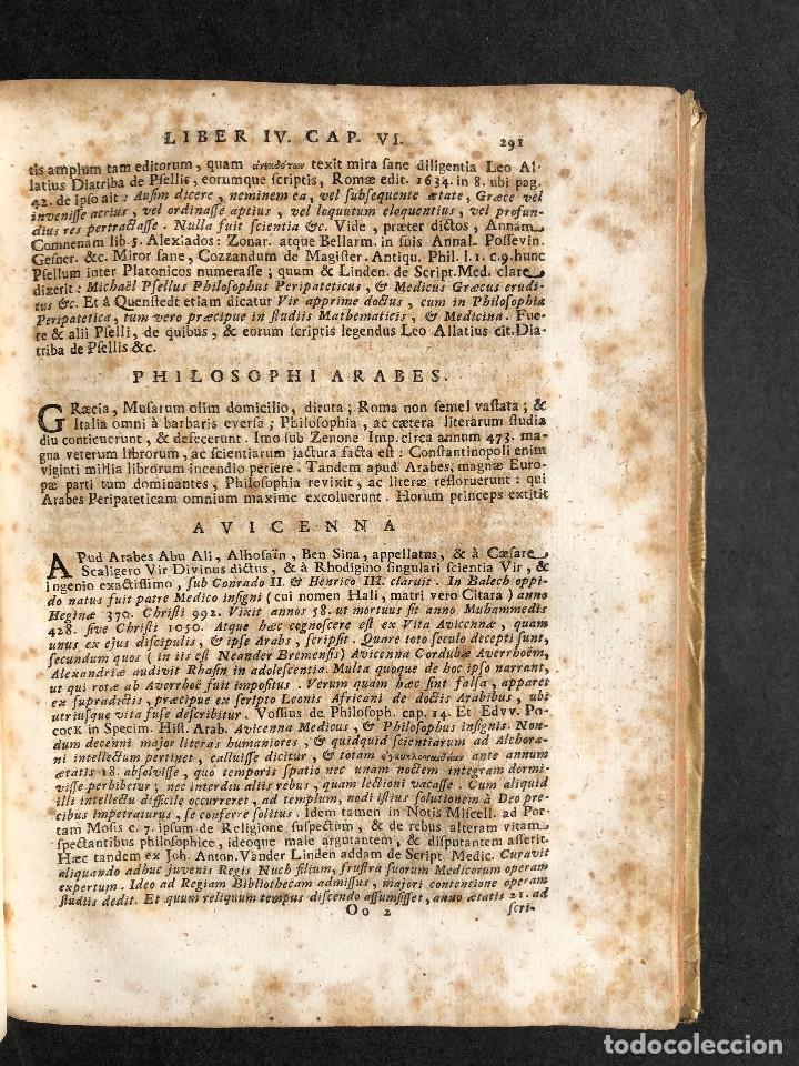 Libros antiguos: 1728 Historiae Philosophiae - historia de la filosofia - pergamino - Foto 31 - 115052011