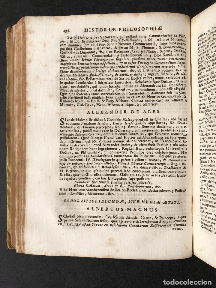 Libros antiguos: 1728 Historiae Philosophiae - historia de la filosofia - pergamino - Foto 34 - 115052011