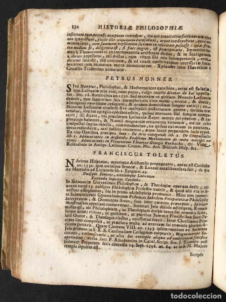 Libros antiguos: 1728 Historiae Philosophiae - historia de la filosofia - pergamino - Foto 37 - 115052011