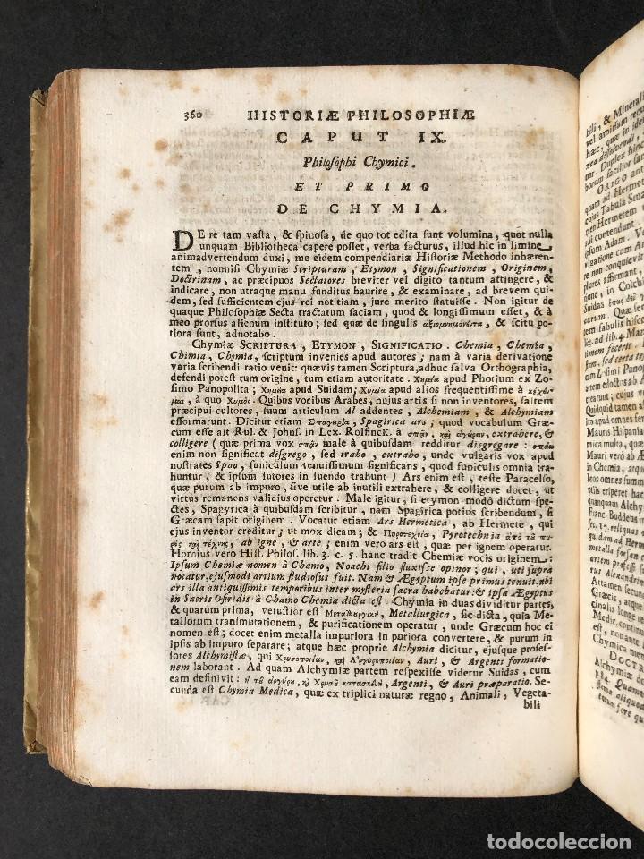 Libros antiguos: 1728 Historiae Philosophiae - historia de la filosofia - pergamino - Foto 39 - 115052011