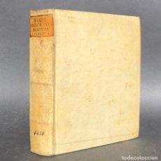 Libros antiguos: 1744 CHRISTIAN WOLFF - FILOSOFÍA - PERGAMINO - PHILOSOPHIA PRACTICA UNIVERSALIS. Lote 115882547