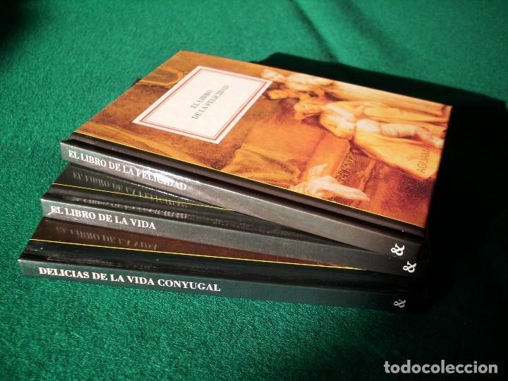 Libros antiguos: EL LIBRO DE LA VIDA - EL LIBRO DE LA FELICIDAD - DELICIAS DE LA VIDA CONYUGAL - AGUAMARINA - ANAYA - Foto 3 - 116198691