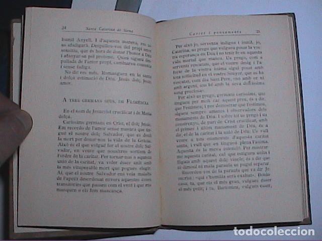 Libros antiguos: CARTES I PENSAMENTS. SANTA CATARINA DE SIENA. EDITORIAL BARCINO 1927. - Foto 2 - 116957347