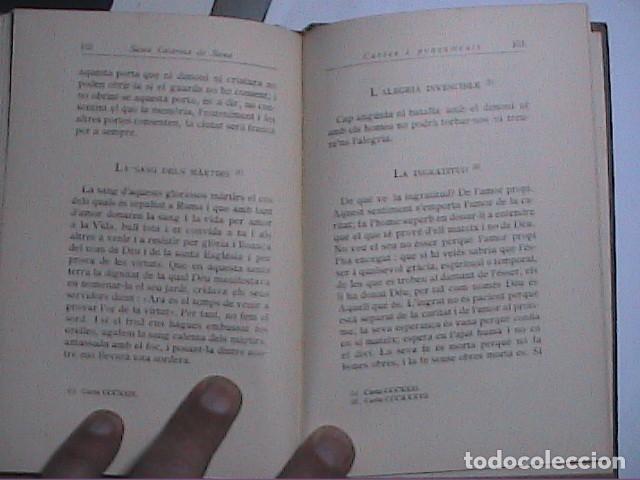 Libros antiguos: CARTES I PENSAMENTS. SANTA CATARINA DE SIENA. EDITORIAL BARCINO 1927. - Foto 3 - 116957347