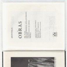 Libros antiguos: NUMULITE L0713 ARISTOTELES OBRAS DEL ALMA ÉTICA NICOMAQUEA ETICA EUDEMIANA AGUILAR. Lote 117163399