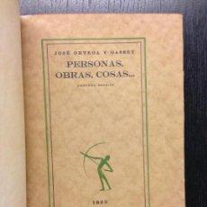Libros antiguos: PERSONAS, OBRAS, COSAS..., ORTEGA Y GASSET, JOSE, 1922. Lote 117938891