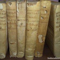 Libros antiguos: LA FALSA FILOSOFIA O EL ATEISMO, DEISMO, MATERIALISMO Y DEMAS NUEVAS SECTAS. OBRA EN 6 TOMOS.1773.. Lote 119067783