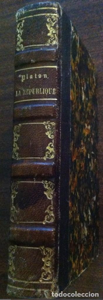 Libros antiguos: Platon - L'Etat ou la République (La República) - París, 1842 (libro antiguo en francés) - Foto 2 - 120121279