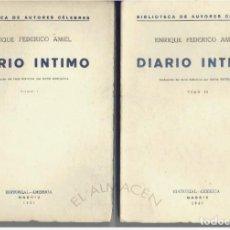 Libros antiguos: DIARIO ÍNTIMO. ENRIQUE FEDERICO AMIEL. 1931. ED. AMÉRICA. DOS TOMOS. SIN USAR. Lote 209106265