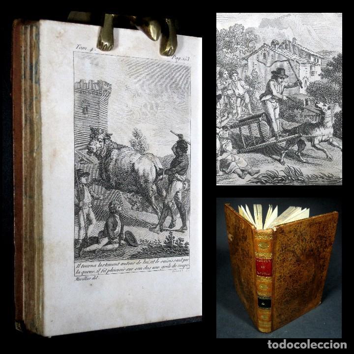 AÑO 1802 LEÓNIDAS REY DE ESPARTA FILOSOFÍA CRÍTICA SOCIAL SANDFORD ET MERTON GRABADOS ROUSSEAU (Libros Antiguos, Raros y Curiosos - Pensamiento - Filosofía)