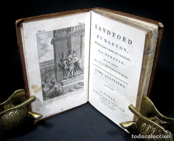 Libros antiguos: Año 1802 Leónidas Rey de Esparta Filosofía Crítica Social Sandford et Merton Grabados Rousseau - Foto 9 - 122832603